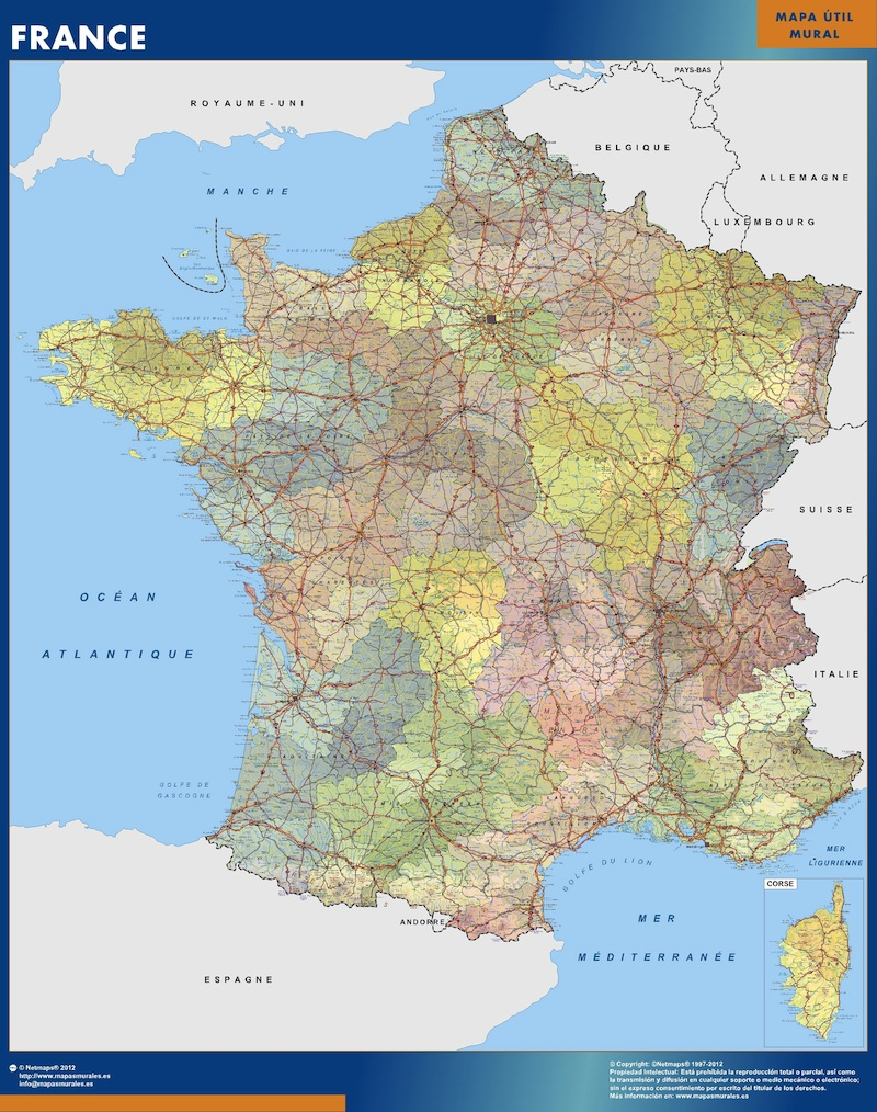 carte geante France politique